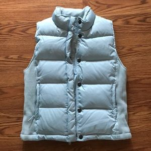 Baby blue Gap puff vest